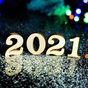 2021 numbers with glitter